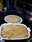 two finished casseroles